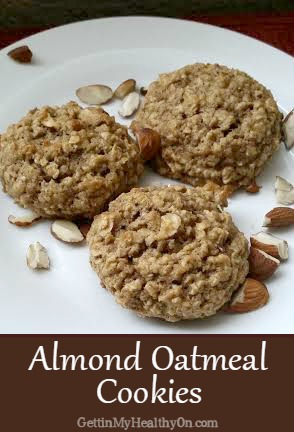 almond oatmeal cookies, recipe