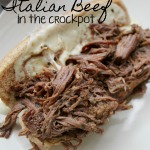 Shredded Italian Beef in the Crockpot