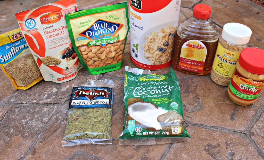 Nut and Seed Granola Bars Ingredients