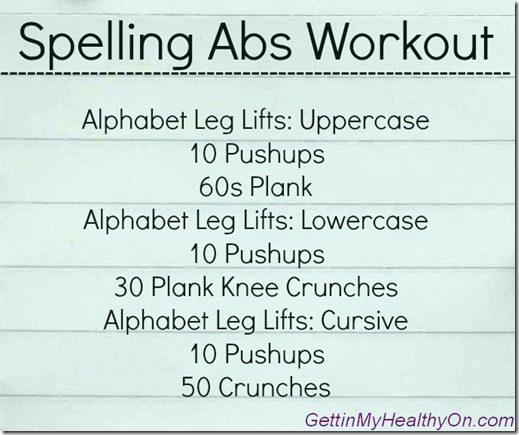 Spelling Abs Workout