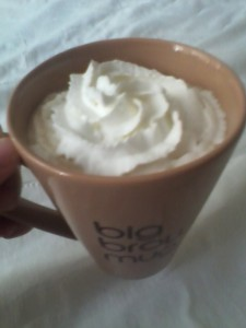 whipped cream coffee