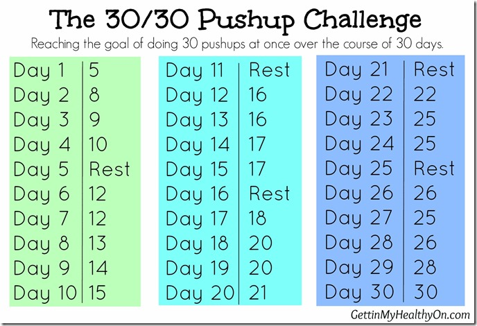 The 30-30 Pushup Challenge