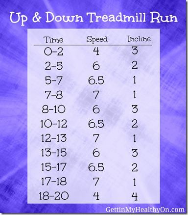 Up and Down Treadmill Run