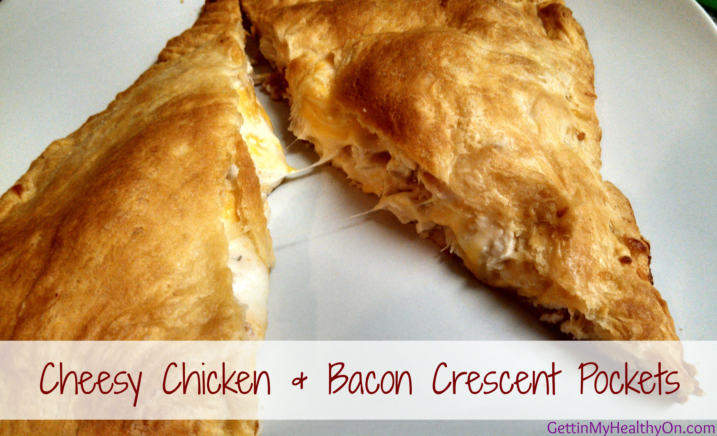 Cheesy Chicken & Bacon Crescent Pockets