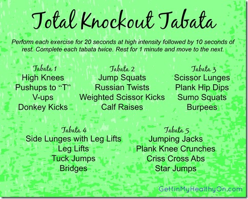 Total Knockout Tabata