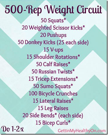 500 Rep Weight Circuit