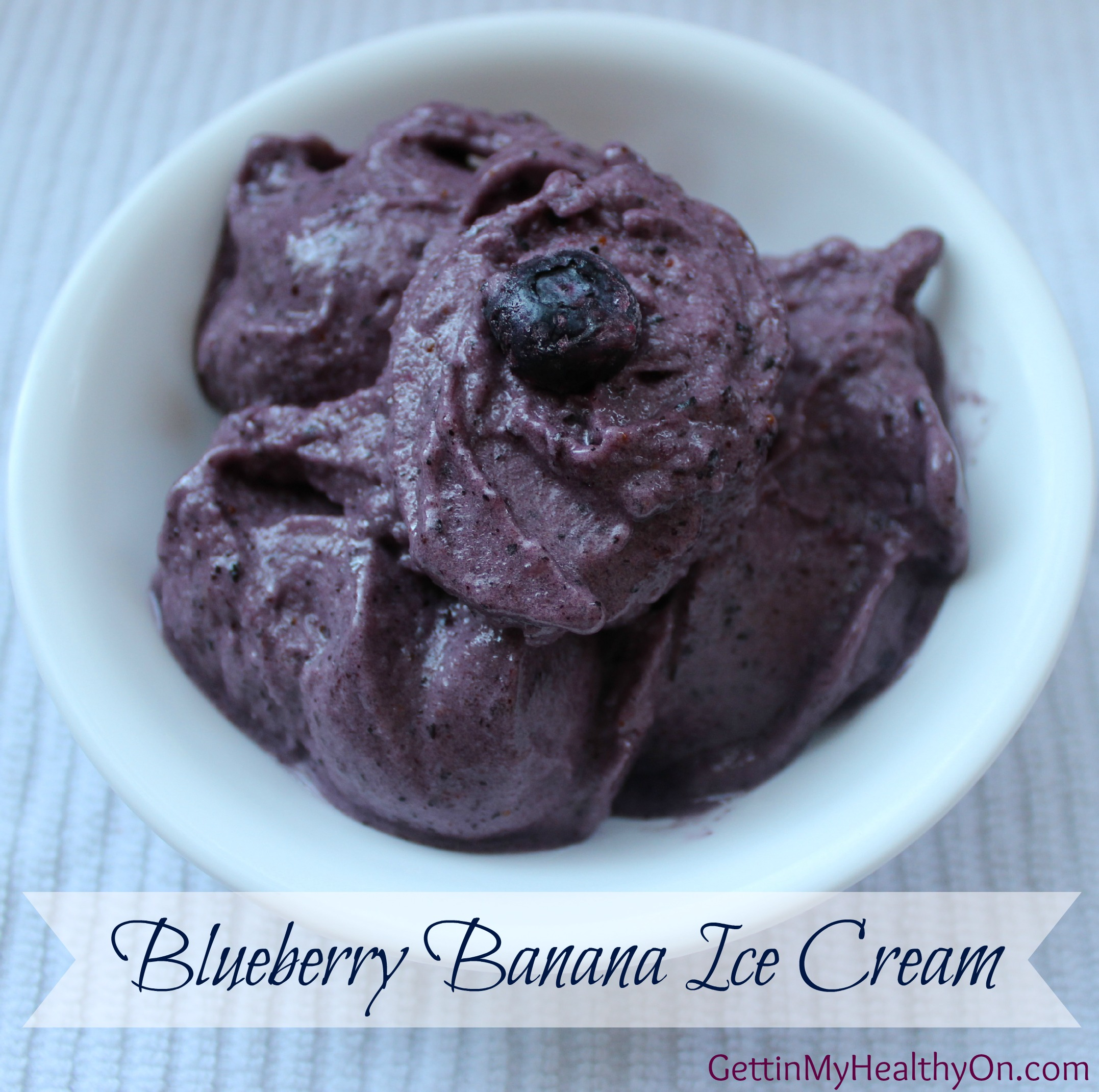 Blueberry Banana Ice Cream is a 3-ingredient dessert that is super ...
