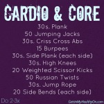 My Favorite Things + Cardio & Core Circuit