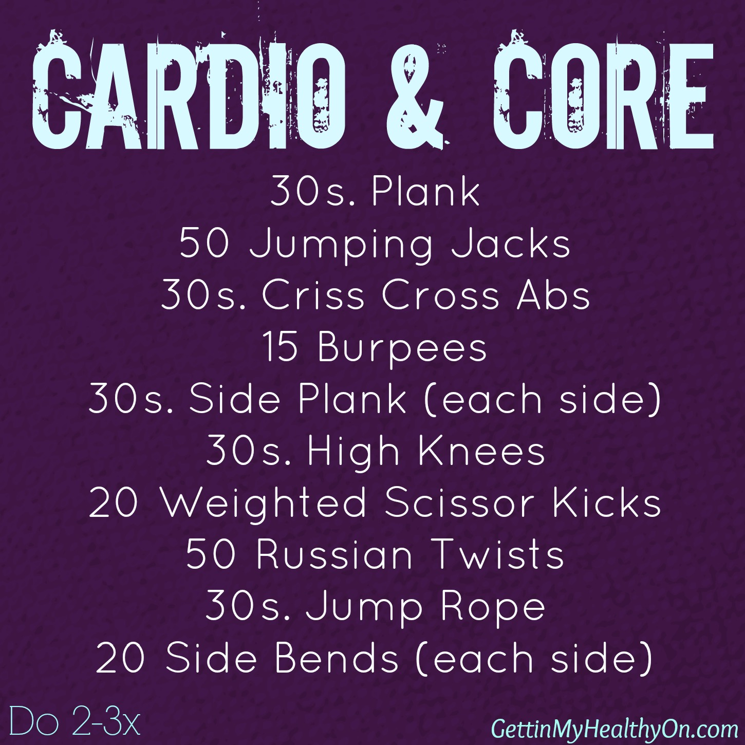 Cardio and Core Circuit Workout