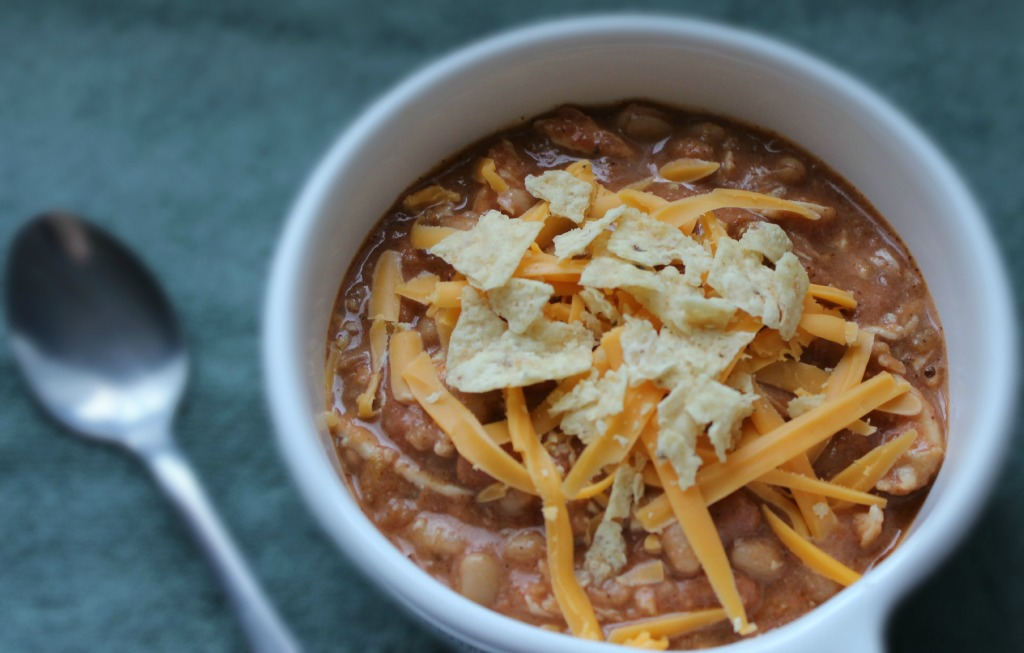 Southwest Chicken Chili in the Crock Pot