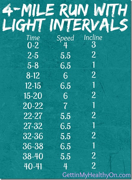 4 Mile Run with Light Intervals