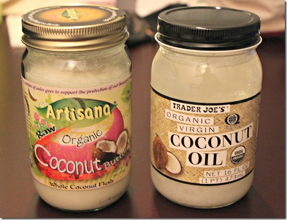 Coconut oil and butter