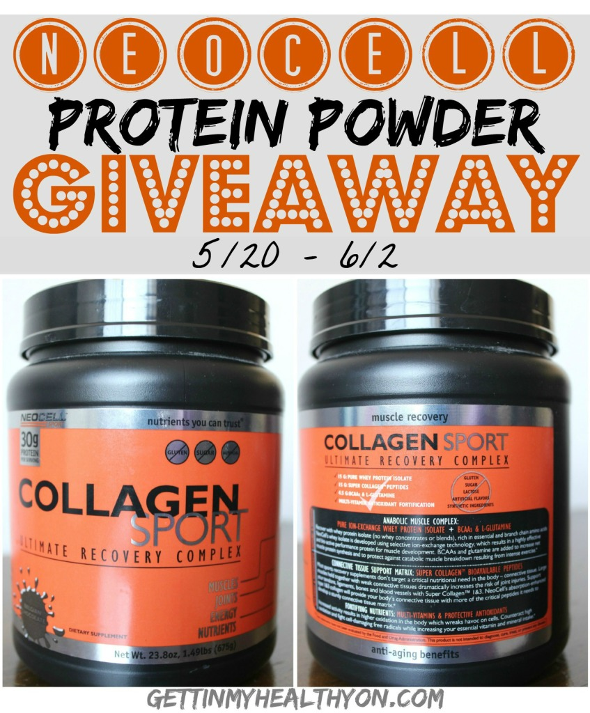 Enter the NeoCell Collagen Sport Protein Powder #Giveaway. Ends 6/2.