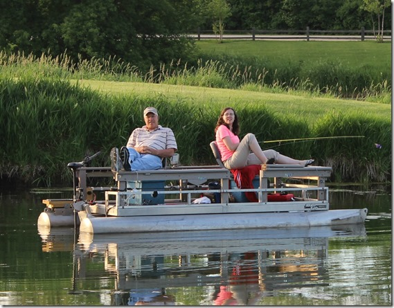 My dad and sister just doing a bit of fishing. :)