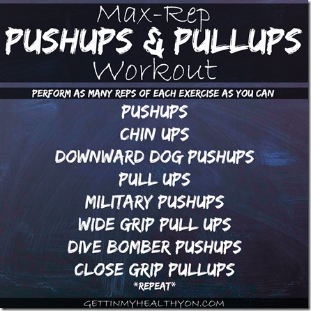 Pushups and Pulls Workout