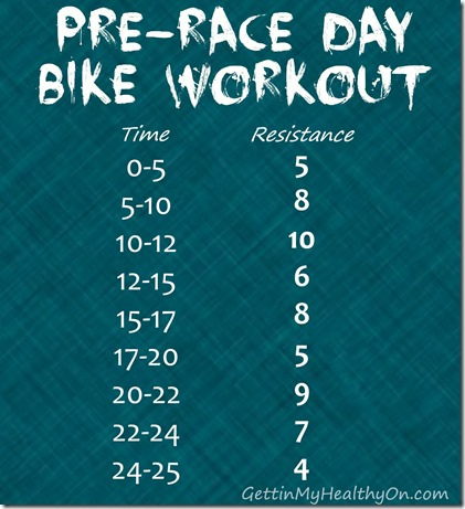 Pre Race Day Bike Workout
