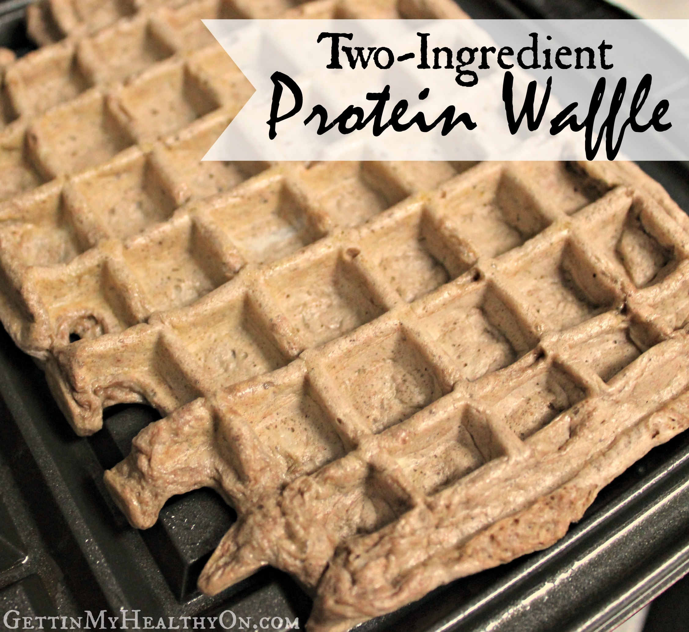 Two-Ingredient Protein Waffle