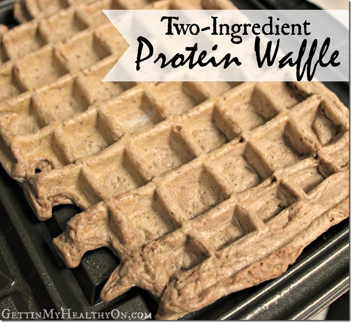 Two Ingredient Protein Waffle