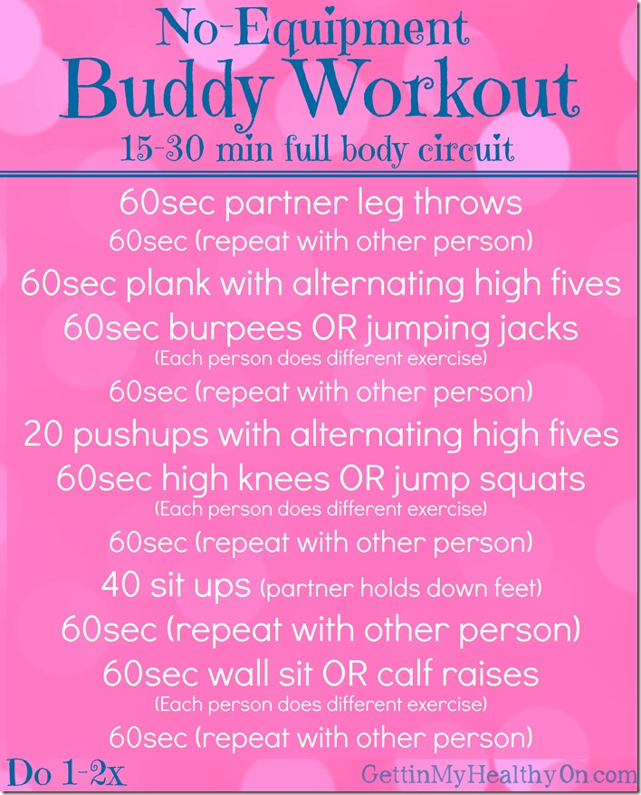 No Equipment Buddy Workout