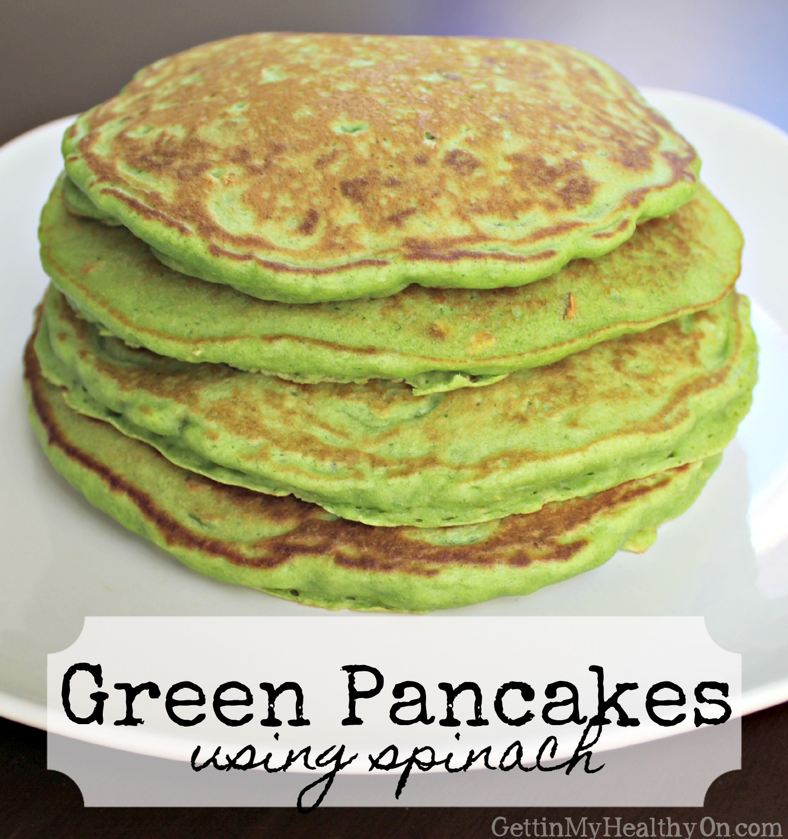 Green Pancakes with Spinach for St. Patrick's Day
