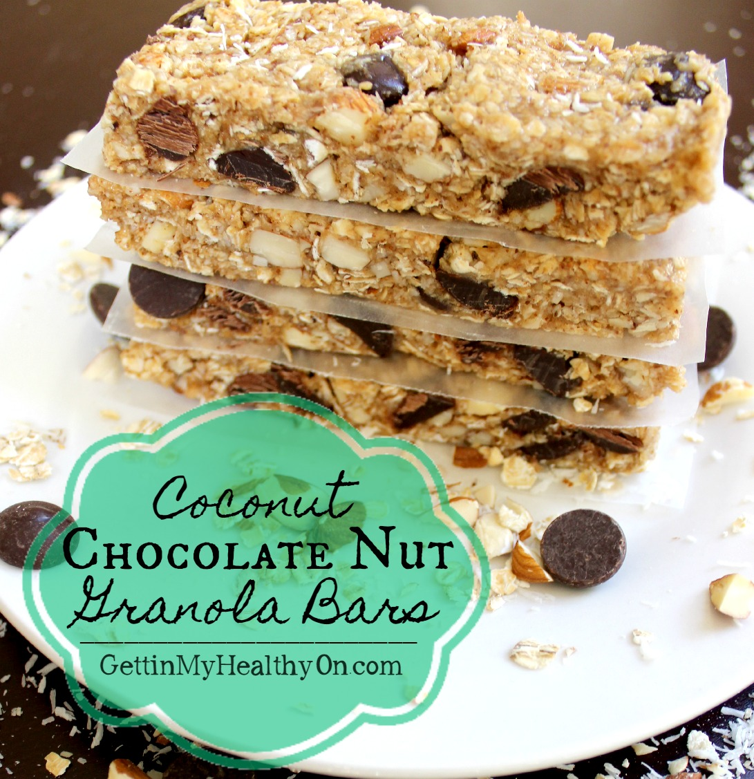 Coconut Chocolate Nut Granola Bars