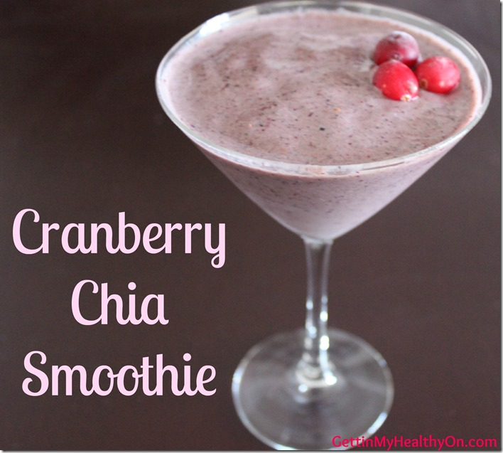 Cranberry Chia Smoothie