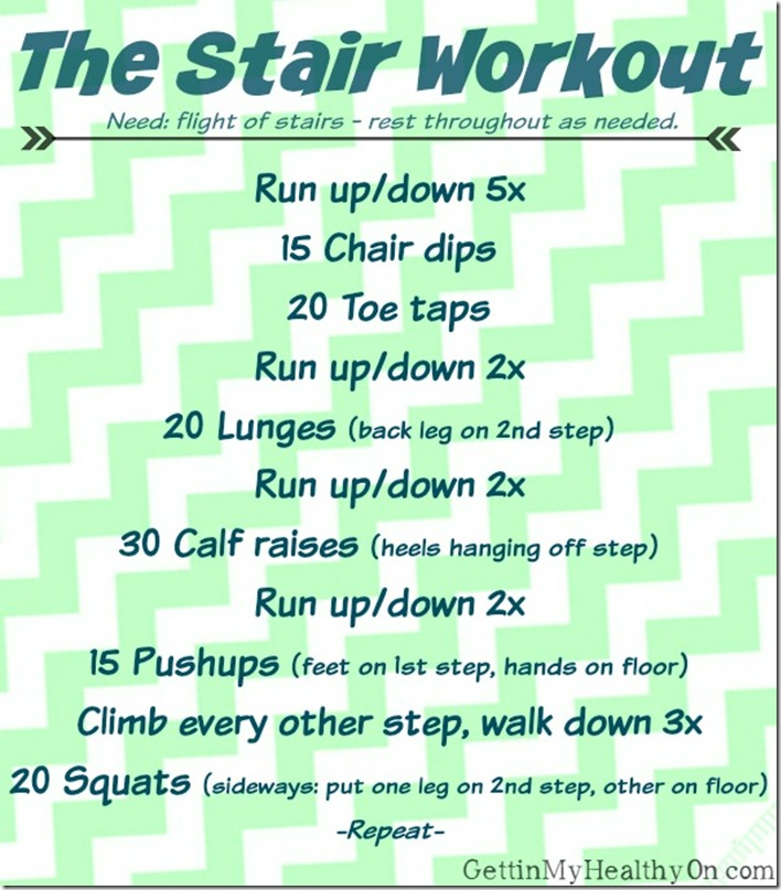Workout Using Only Stairs Gettin 39 My Healthy On
