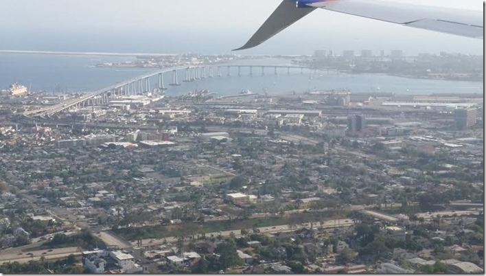 The view as we landed in San Diego