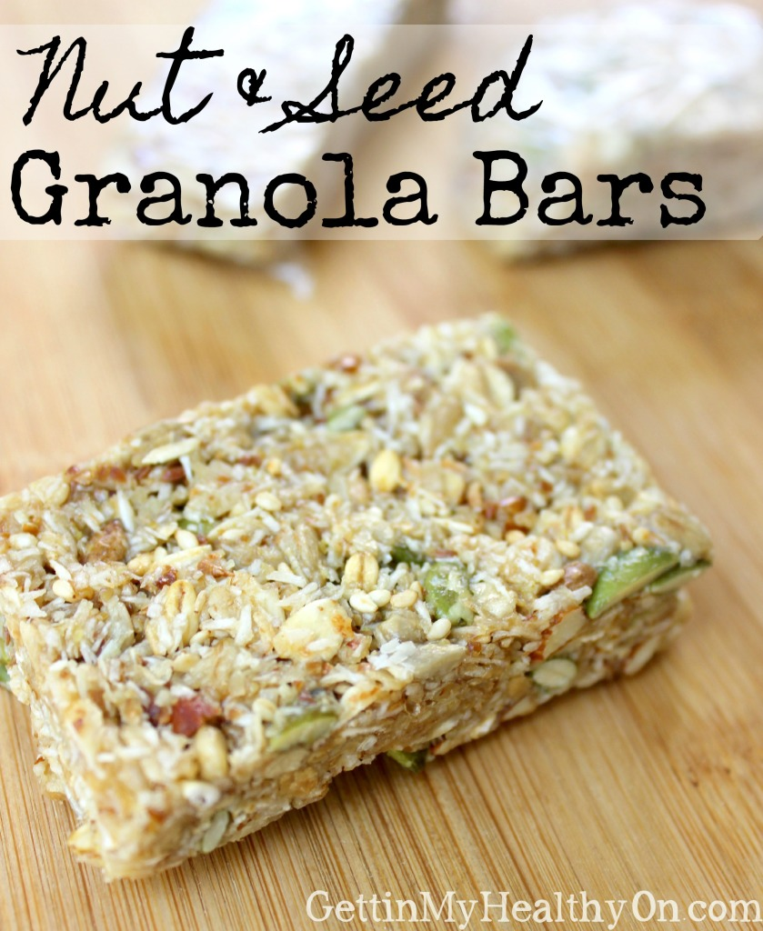 Nut and Seed Granola Bars