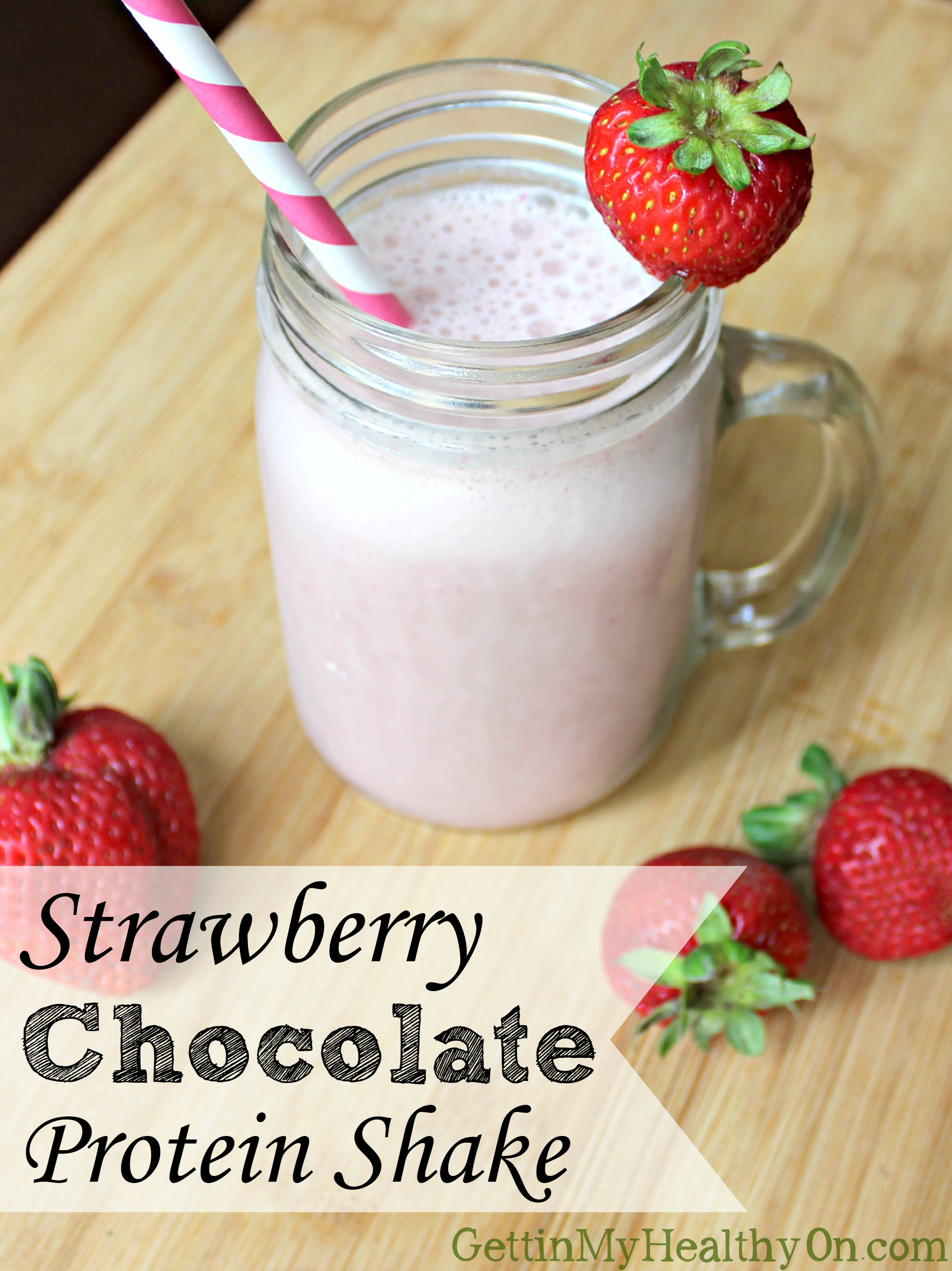 Strawberry Chocolate Protein Shake