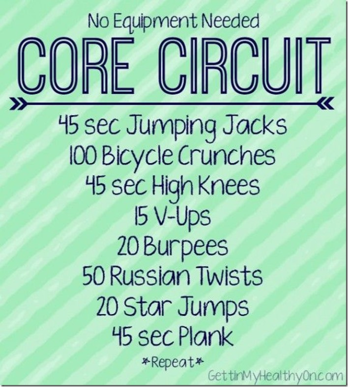 No Equipment Needed Core Circuit