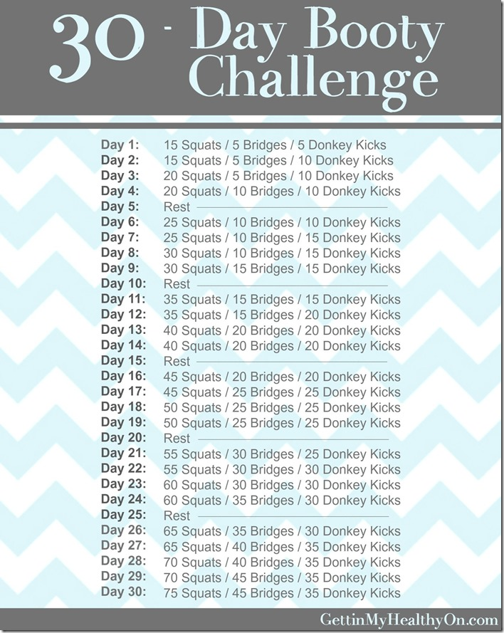 30 Day Booty Challenge