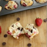 Strawberry Chocolate Muffins with Greek Yogurt