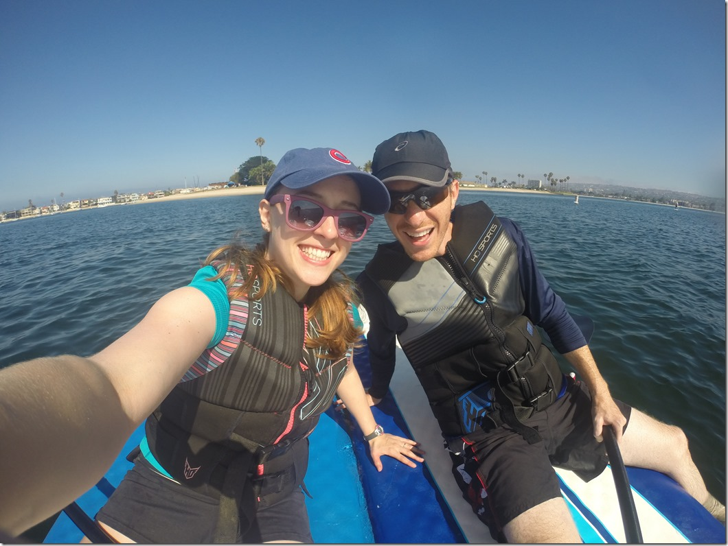 Paddleboarding with the Go Pro