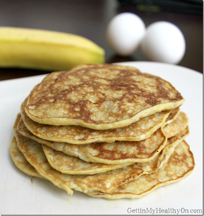 Pancakes Made from Banana and Eggs