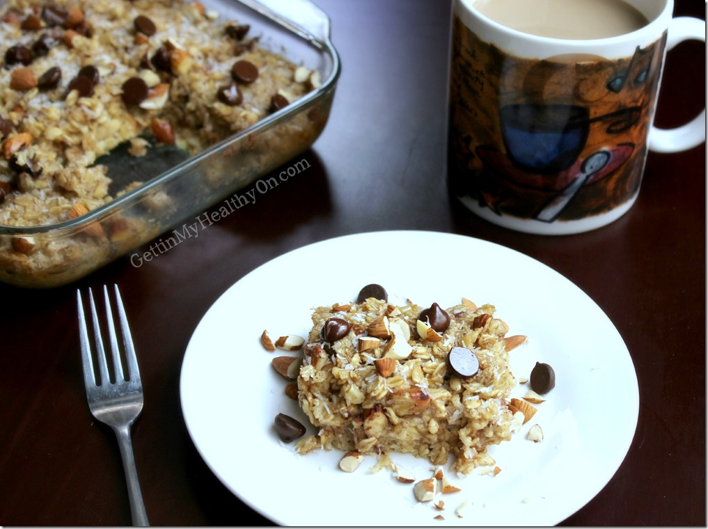Almond Joy Baked Oatmeal