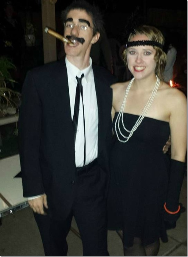 Groucho Marx and Flapper Costumes