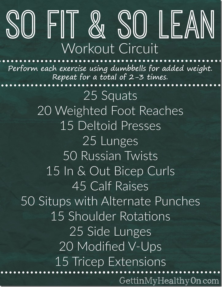 So Fit and So Lean Workout Circuit