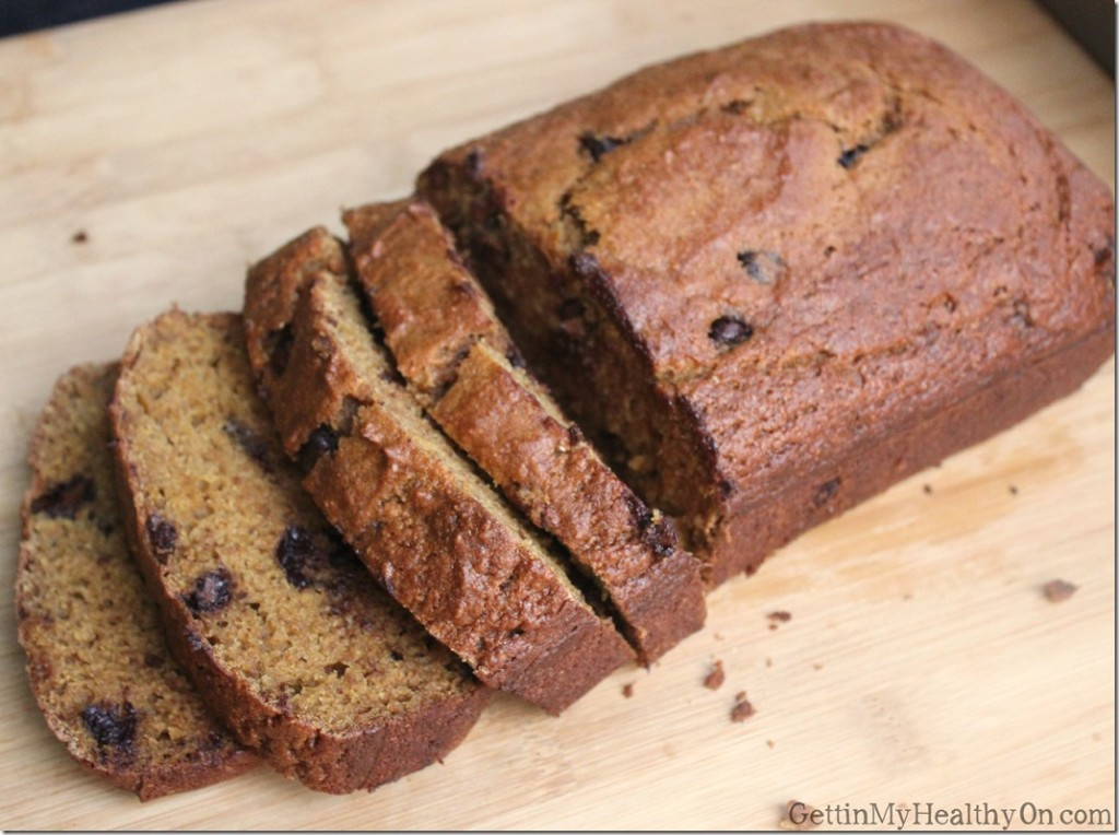 Spiced Pumpkin Bread with Chocolate Chips