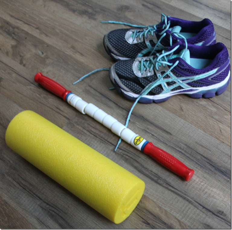 Foam Roller and Athlete Stick