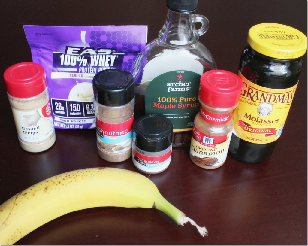 Gingerbread Smoothie Ingredients