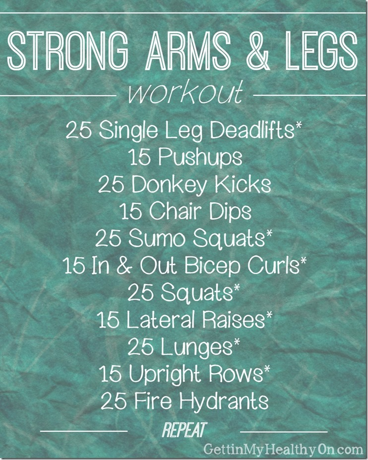 Strong Arms and Legs Workout