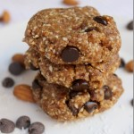 No-Bake Chocolate Chip Cookies with Almond and Coconut