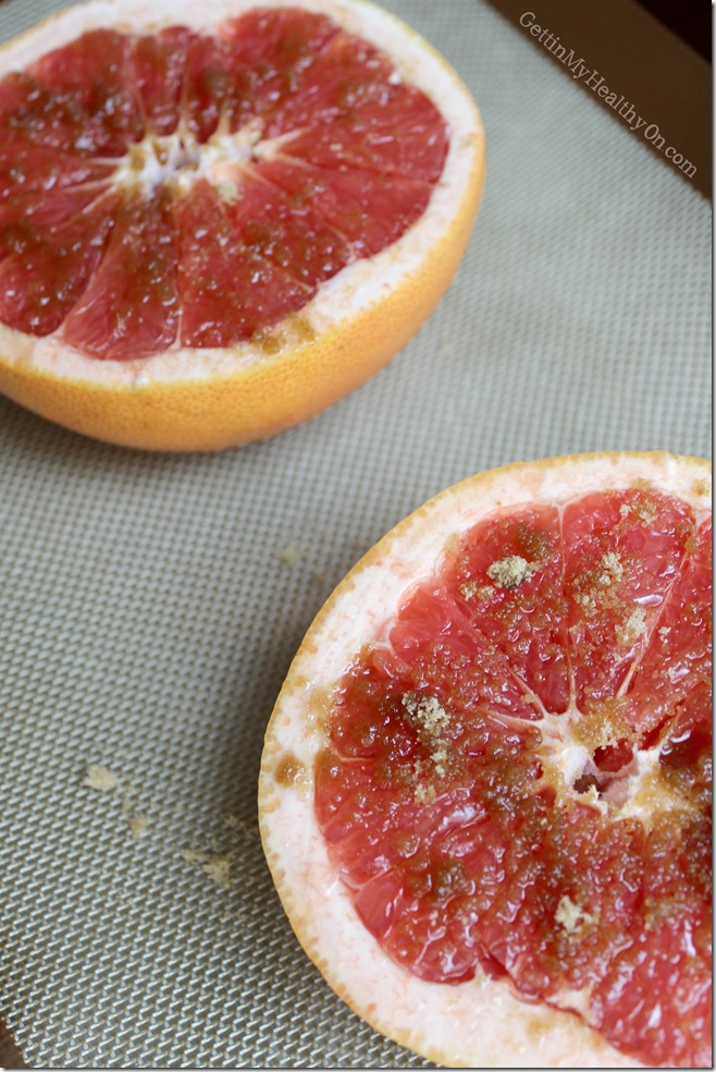 Broiled Grapefruit Topped with Brown Sugar