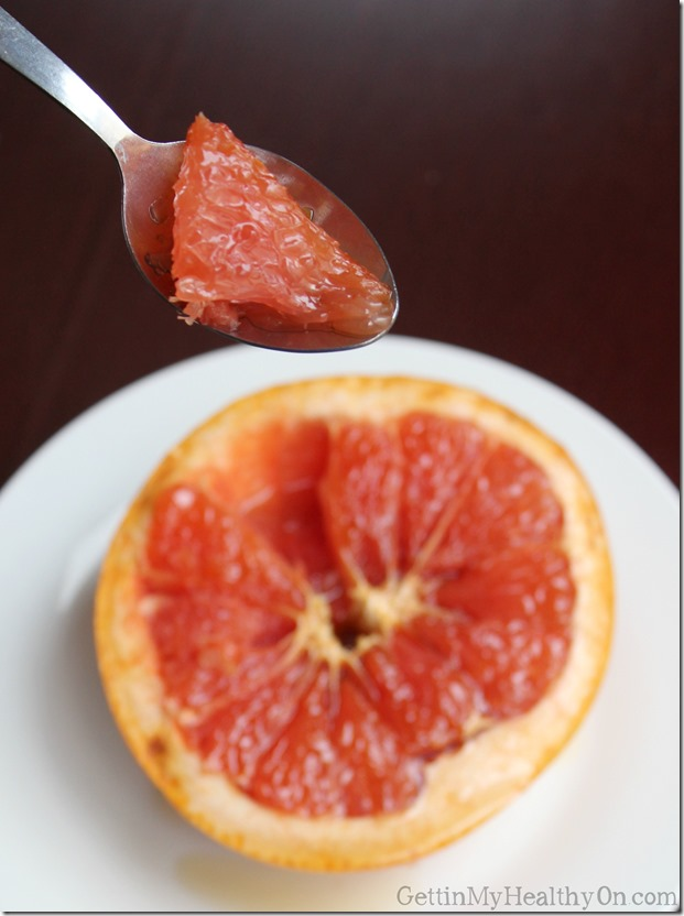 Brown Sugar on Broiled Grapefruit