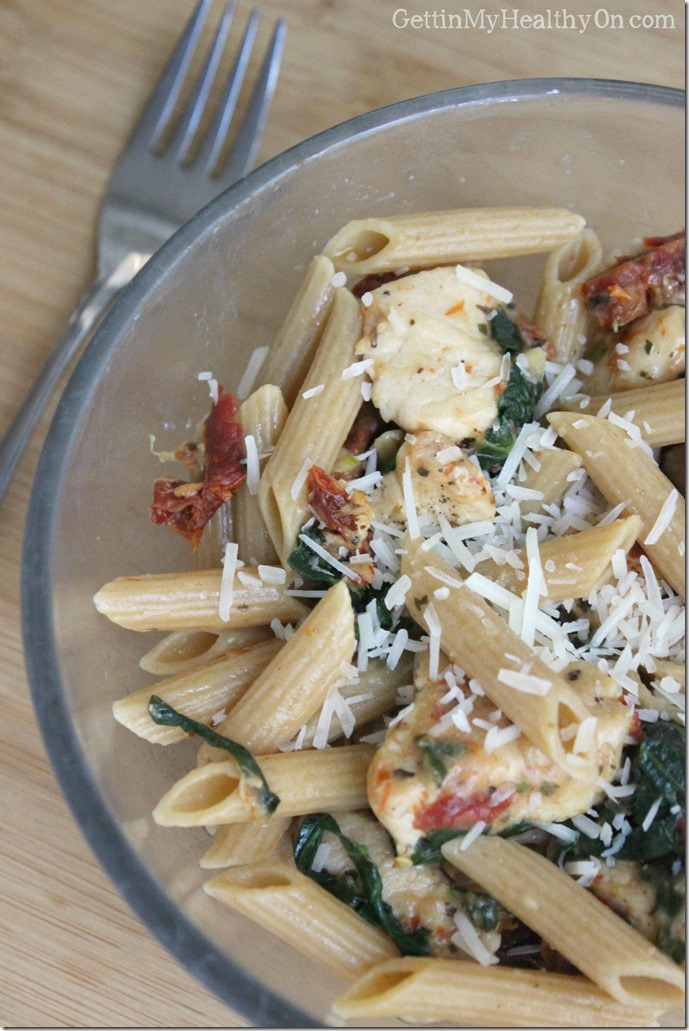 Sundried Tomato Chicken Spinach Penne Pasta