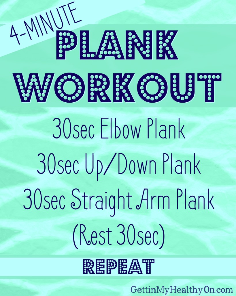 4 Minute Plank Workout