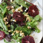 Blood Orange, Walnut & Feta Salad with Blood Orange Vinaigrette