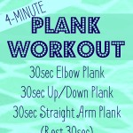 4-Minute Plank Workout