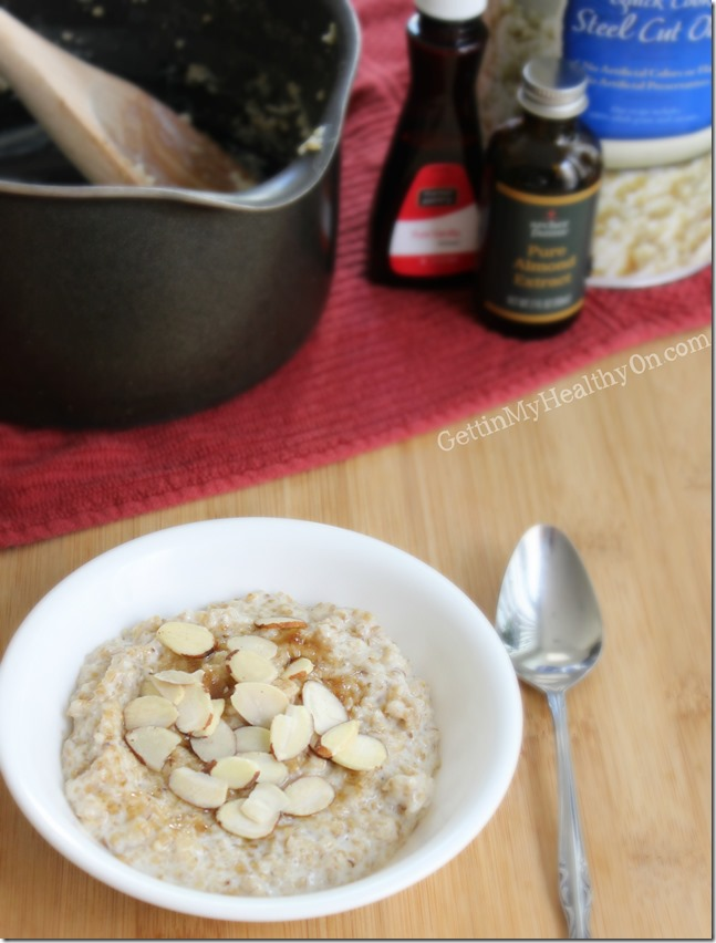 Vanilla and Almond Steel Cut Oatmeal